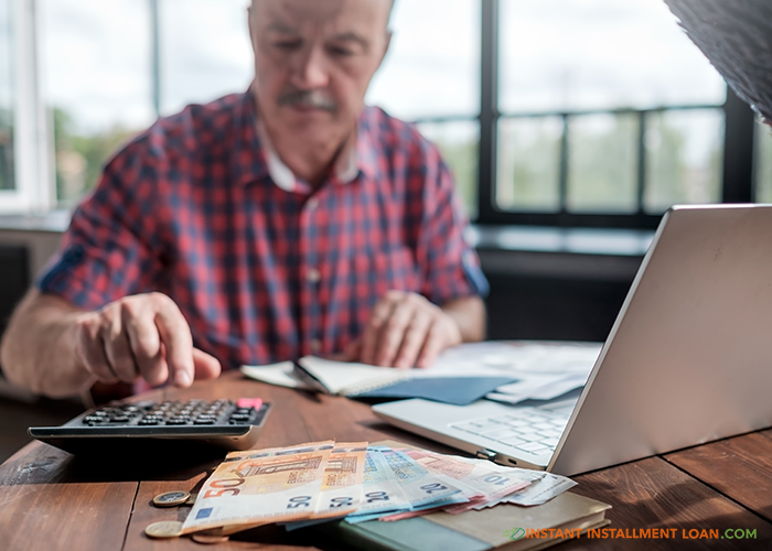 retirement pay is burdened instant installment loan