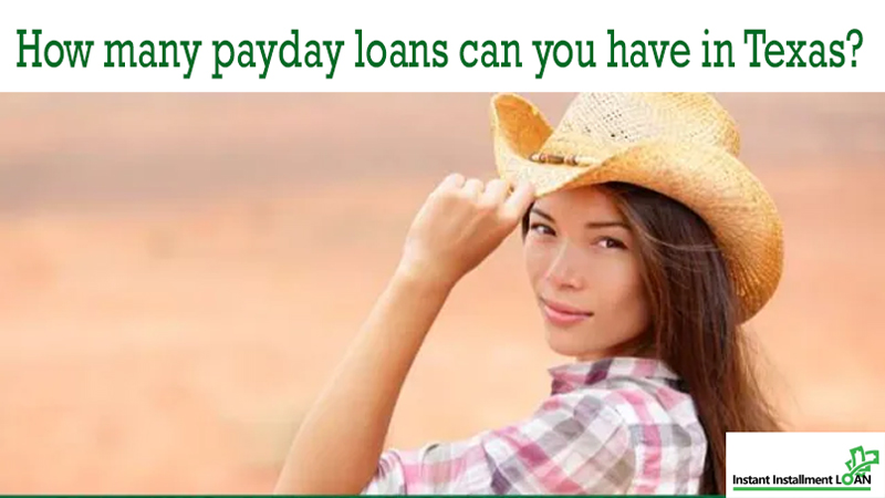 Can you have more than one payday loan in texas