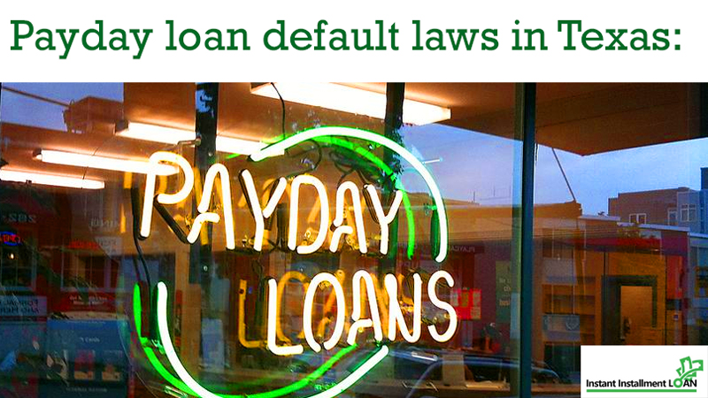 What are the laws in Texas for payday loans